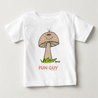 Drôle doux mignon d'amusement de bande dessinée t-shirt pour bébé