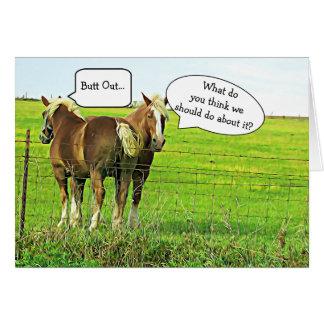 """Drôle """"esprit carte de chevaux de vos propres"""
