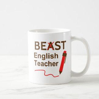 Drôle et farfelu, bête ou meilleur professeur mug blanc