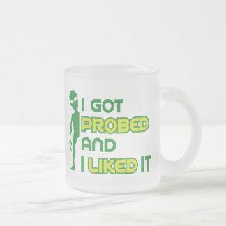 Drôle j'ai obtenu l'abduction étrangère sondée mug en verre givré