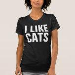 Drôle j'aime le hippie fou d'amoureux des chats de t-shirts