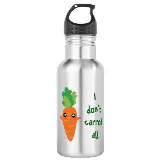Drôle je ne fais pas carotte toute la bande bouteille d'eau en acier inoxydable