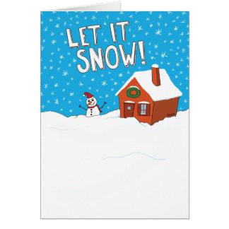 Drôle laissez-le neiger carte de vacances