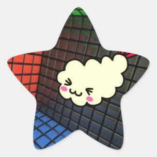 drôle mignon de matrice de sushi de kawaii autocollant en étoile
