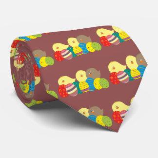 Drôle mignon de poussins de Pâques Cravate