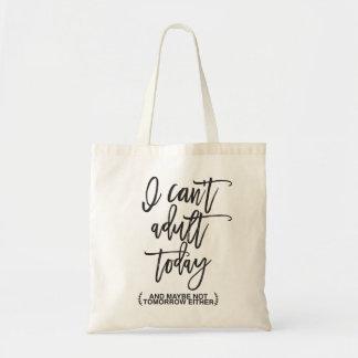 Drôle ne peut pas la typographie adulte sac en toile