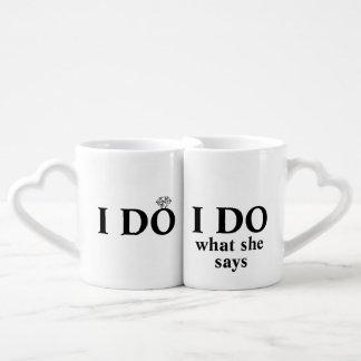 """Drôle personnalisé """"je fais"""" mariage ou mug"""