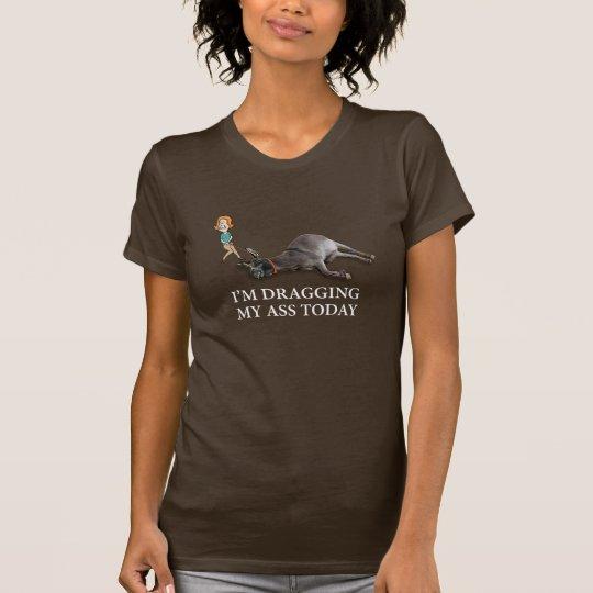 Drôle traînant mon âne t-shirt