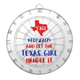 Drôle vous tee - shirt de fille du Texas Jeu De Fléchettes