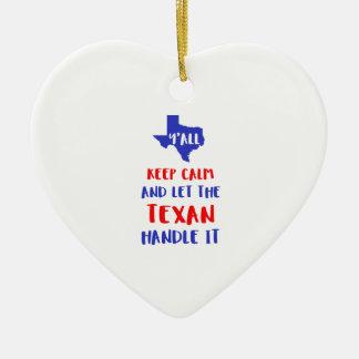Drôle vous tee - shirt de fille du Texas Ornement Cœur En Céramique