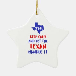 Drôle vous tee - shirt de fille du Texas Ornement Étoile En Céramique