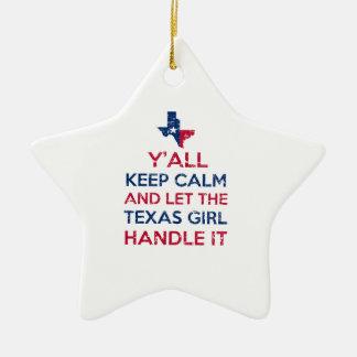 Drôle vous tee - shirt texan ornement étoile en céramique