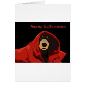 Druide de teckel - Halloweener heureux Carte De Vœux
