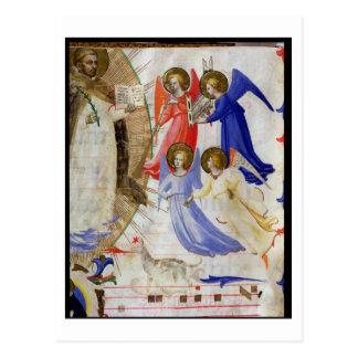 ds 558 f.67v St Dominic avec quatre anges Carte Postale