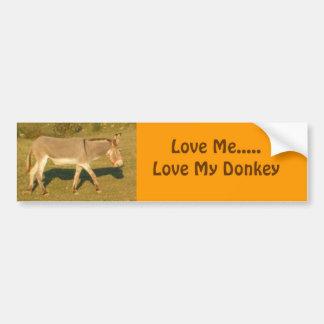 DSCF0958, m'aiment ..... amour mon âne Autocollant De Voiture