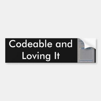 DSM-IV, Codeable et l'aimer Autocollant Pour Voiture