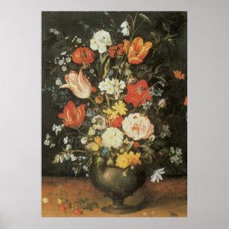 Du baroque toujours fleurs vintages de la vie en posters