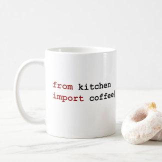 du café d'importation de cuisine - tasse de python