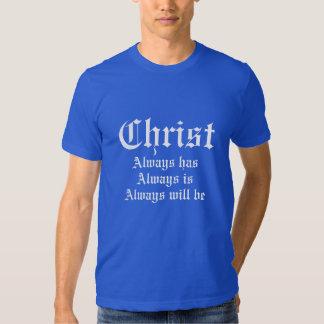 Du Christ le T-shirt des hommes de bleu de ciel