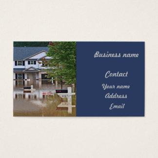 Dû inondé nouvelle par maison pour donner l'assaut cartes de visite