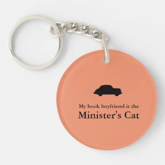 Du ministre du chat de Porte - clé-Le de troupe Porte-clé Rond En Acrylique Double Face