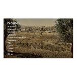 Du mont des Oliviers, vue générale, Jérusalem, Modèle De Carte De Visite