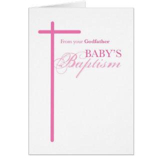Du parrain sur le baptême de la fille, filleule carte de vœux