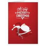 Du père noël Noël rouge très Carte De Vœux