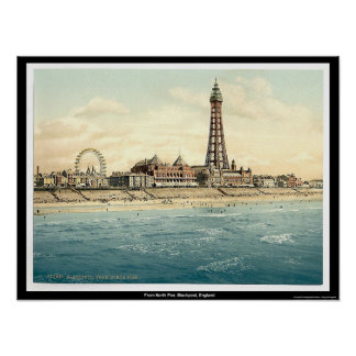 Du pilier du nord, Blackpool, Angleterre Posters
