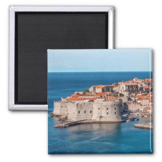 Dubrovnik, Croatie Magnet Carré