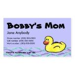 Duckin le long de carte de maman modèle de carte de visite