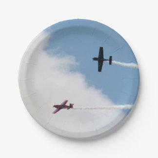 Duel d'avion de voilure fixe d'Airshow Assiettes En Papier