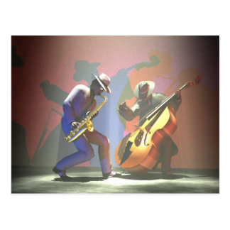 Duel de jazz carte postale