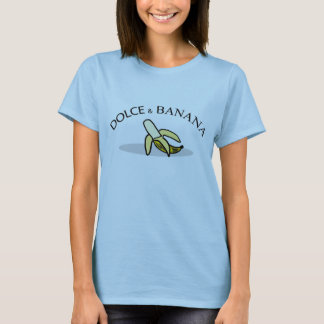Dulce et T-shirt de femmes de banane