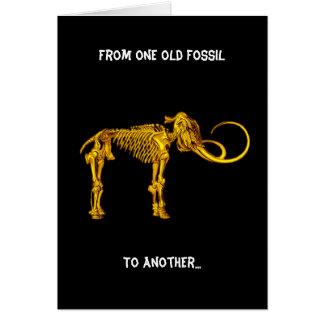 D'un vieux fossile, à l'autre… carte de vœux