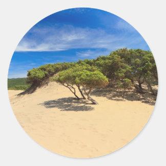 Dune de Piscinas - Sardaigne, Italie Adhésifs Ronds