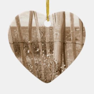 dune ornement cœur en céramique