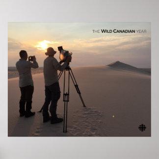 Dunes de sable d'Athabasca Poster
