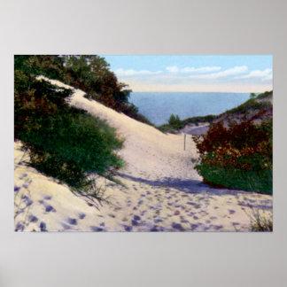 Dunes de sable de Gary Indiana le lac Michigan Posters