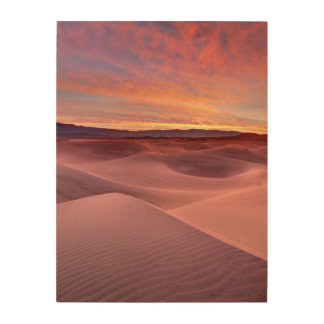 Dunes de sable roses, Death Valley, CA Impression Sur Bois