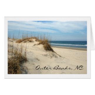 Dunes externes de banques cartes de vœux