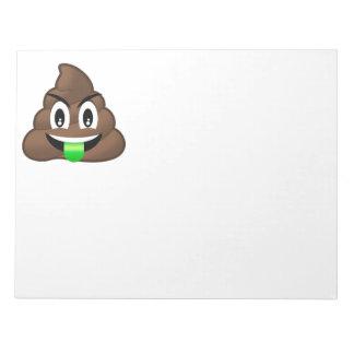 Dunette folle Emoji de langue verte Blocs Notes