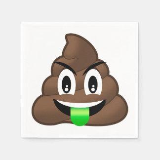 Dunette folle Emoji de langue verte Serviettes En Papier