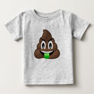 Dunette folle Emoji de langue verte T-shirt Pour Bébé