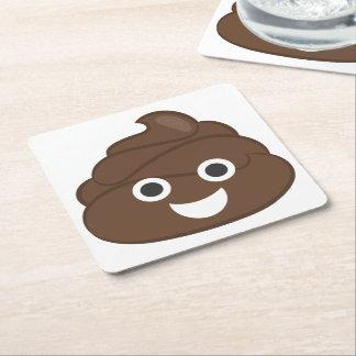 Dunette idiote folle Emoji de Brown Dessous-de-verre Carré En Papier