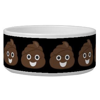 Dunette idiote folle Emoji de Brown Écuelles Pour Chien