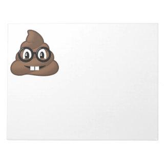 Dunette nerd Emoji en verre Blocs Notes