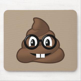 Dunette nerd Emoji en verre Tapis De Souris