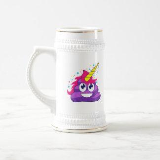 Dunette pourpre d'Emoji de licorne Chope À Bière