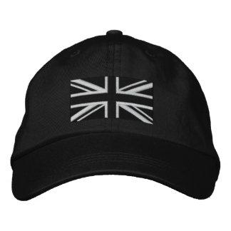 ~ d'Union Jack noir et blanc Casquette Brodée